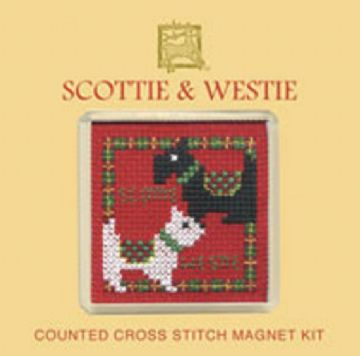 Textile Heritage Fridge Magnet Kit -Scottie and Westie